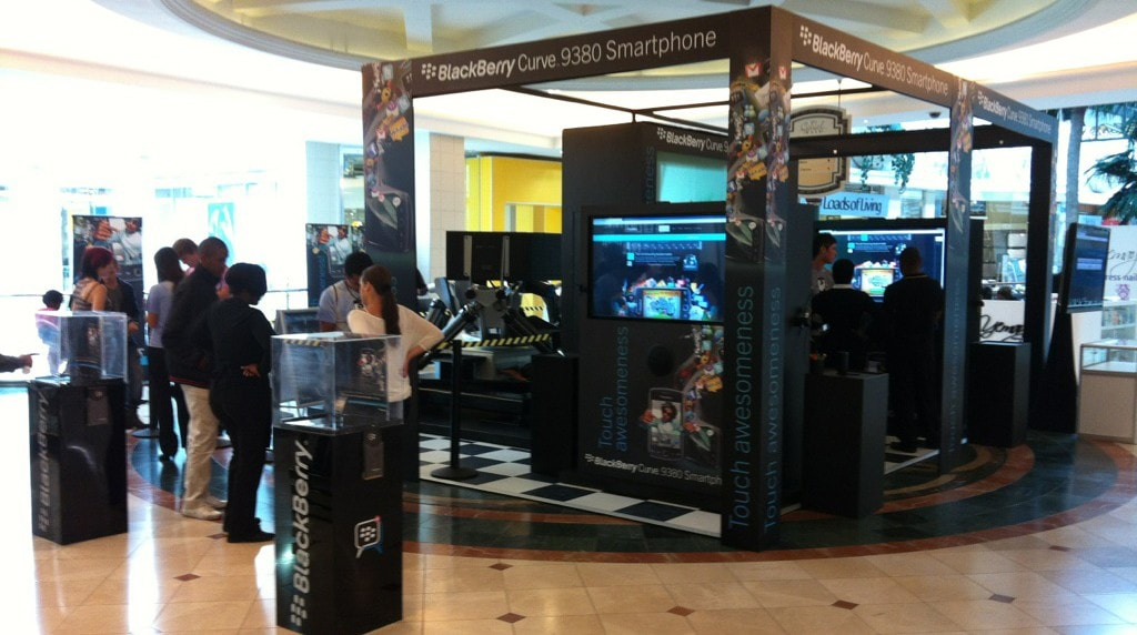 BlackBerry Touch Awesomeness Mall Campaign