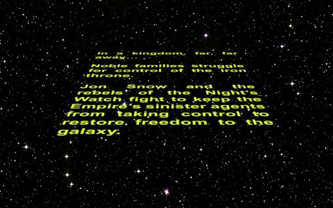 Showmax Star Wars Crawl